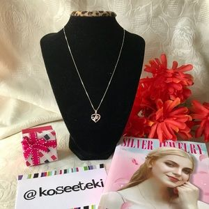 925 Silver Tripple Heart necklace LP122